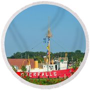 Lightship Overfalls Round Beach Towel