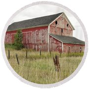 Ligonier Barn Round Beach Towel