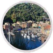 Liguria - Portofino Round Beach Towel