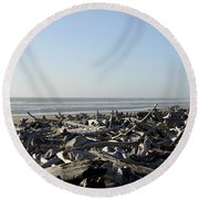 A Trees Boneyard Round Beach Towel