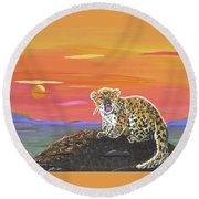 Lil' Leopard Round Beach Towel