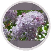 A Lighter Shade Of Lilac Round Beach Towel