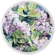 Lilac Delight Round Beach Towel