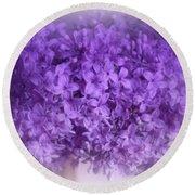 Lilac Fantasy Round Beach Towel