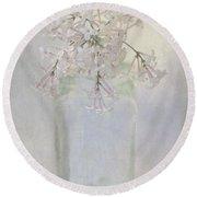 Lilac Flower Round Beach Towel