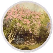 Lilac In The Sun, 1873 Round Beach Towel
