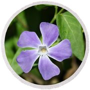 Lilac Periwinkle Round Beach Towel