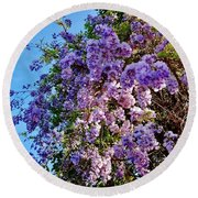 Lilac Tree Round Beach Towel