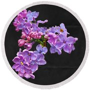 Lilacs - Perfumed Dreams Round Beach Towel