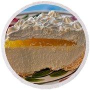 Lilikoi Cheese Pie Round Beach Towel by Dan McManus