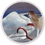 Lilith Round Beach Towel