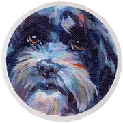 Lilli All Growed Up Round Beach Towel