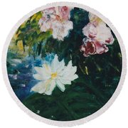 Lillie Pond Round Beach Towel