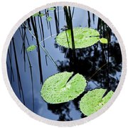 Lilly Pad Pond Round Beach Towel