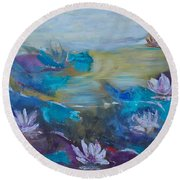 Lilly Pad Round Beach Towel