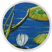 Lilly Pads Round Beach Towel