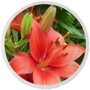Lillys And Buds 1 Round Beach Towel