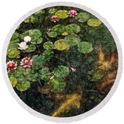 Lily 0147 - Colored Photo 2 Sl Round Beach Towel