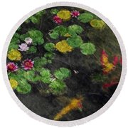 Lily 0147 - Watercolor 2 Sl Round Beach Towel