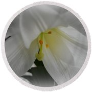 Lily Focal Round Beach Towel