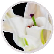 Lily Solitaire Round Beach Towel