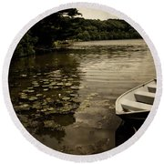 Lilypads In The Lake Round Beach Towel