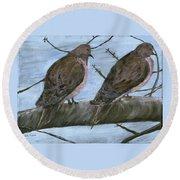 Limbirds Round Beach Towel