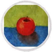 Lime Apple Lemon Round Beach Towel by Michelle Calkins