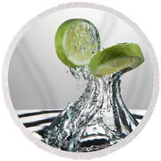 Lime Freshsplash Round Beach Towel