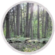 Limerick Fern Understory Round Beach Towel
