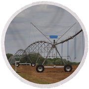 Limestone County Crop Irrigation Round Beach Towel