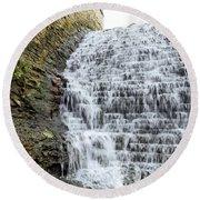 Limestone Falls 2 Round Beach Towel