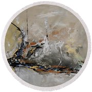 Limitless - Abstract Painting Round Beach Towel by Ismeta Gruenwald