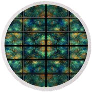 Limitless Night Sky Round Beach Towel