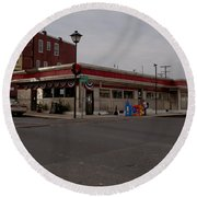Lincoln Diner Round Beach Towel