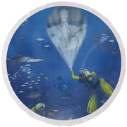 Lincoln Diving Center Round Beach Towel