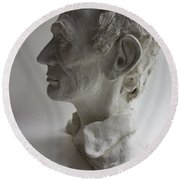 Lincoln-honest Abe Round Beach Towel
