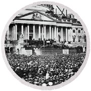 Lincoln Inauguration, 1861 Round Beach Towel