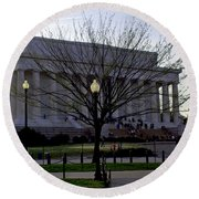 Lincoln Memorial Round Beach Towel