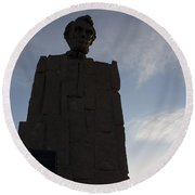 Lincoln Memorial Wyoming Round Beach Towel