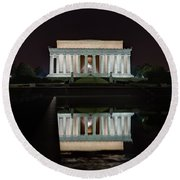 Lincoln Reflection Round Beach Towel