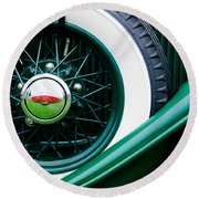 Lincoln Spare Tire Emblem Round Beach Towel