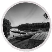 Lincoln Trail State Park Bw Round Beach Towel