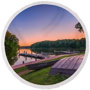 Lincoln Trail State Park Round Beach Towel