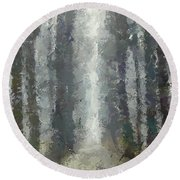 Linden Alley Round Beach Towel