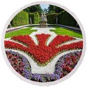 Linderhof Palace Gardens - Bavaria - Germany Round Beach Towel