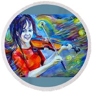 Lindsey Stirling Magic Round Beach Towel