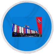 Line Of Hats Tent Us Confederate Flags Tucson Arizona 1984-2012 Round Beach Towel