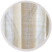 Linen Curtain Round Beach Towel