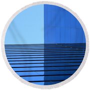 Squared Reflection Round Beach Towel